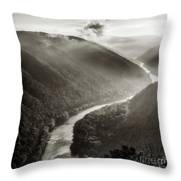 Grandview In Black And White Throw Pillow