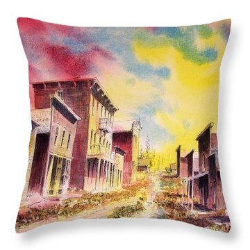 Granite Ghost Town Montana Throw Pillow by Kevin Heaney