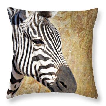 Grant's Zebra_a1 Throw Pillow