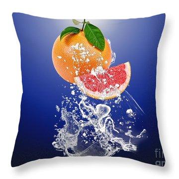 Grapefruit Splash Throw Pillow