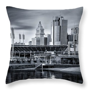 Great American Ball Park Throw Pillow