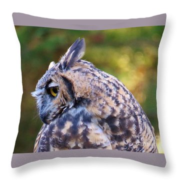 Throw Pillow featuring the photograph Great Horned Owl  by Michele Penner