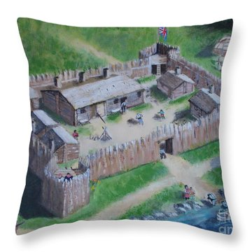 Great Lakes North Trading Post Throw Pillow
