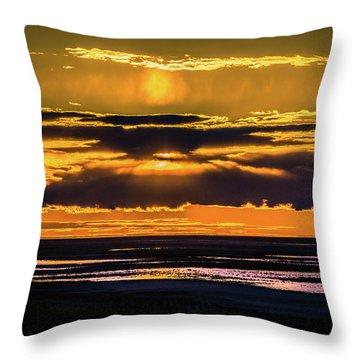 Great Salt Lake Sunset Throw Pillow