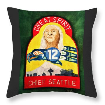 Great Spirit Seattle 12s Throw Pillow
