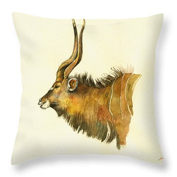 Greater Kudu Throw Pillow