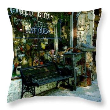 Green Lantern Antiques Throw Pillow