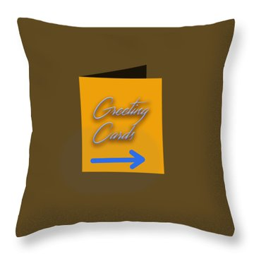 Greeting Cards Throw Pillow