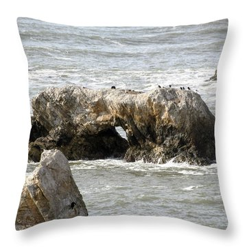 Throw Pillow featuring the photograph Grey Water At Window Rock by Barbara Snyder