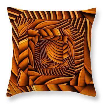 Groovy Throw Pillow by Ron Bissett