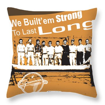 Grumman Canoe Throw Pillow