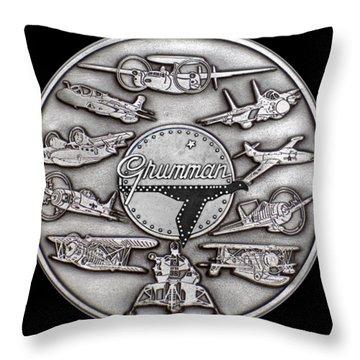 Grumman Coin Throw Pillow