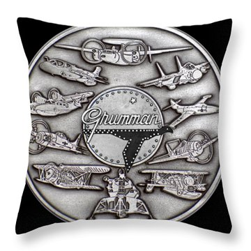 Grumman Coin Throw Pillow
