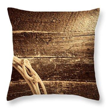 Grunge Lasso  Throw Pillow