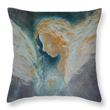 Angelic Encounters  Throw Pillow