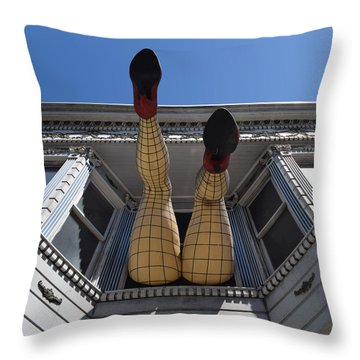 Throw Pillow featuring the photograph Haight And Ashbury Legs by Dany Lison