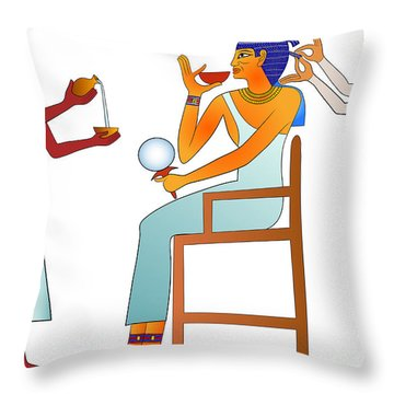 Hairdresser Throw Pillow by Michal Boubin