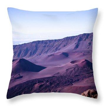 Haleakala Sunrise On The Summit Maui Hawaii - Kalahaku Overlook Throw Pillow by Sharon Mau