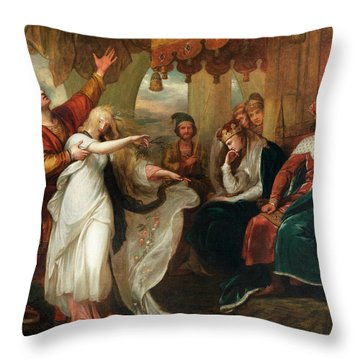 Hamlet Act Iv, Scene V Throw Pillow