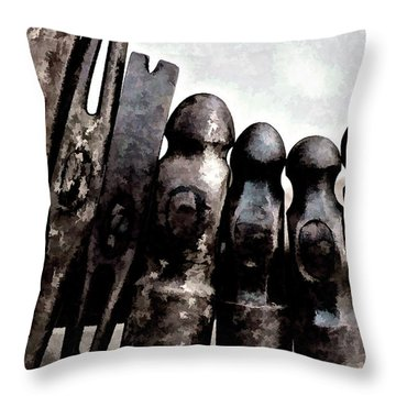 Hammer Heads  Throw Pillow by Wilma Birdwell