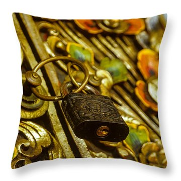 Hand Carved Security Throw Pillow