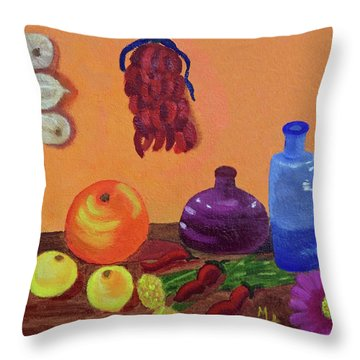 Hanging Around With Spices Throw Pillow