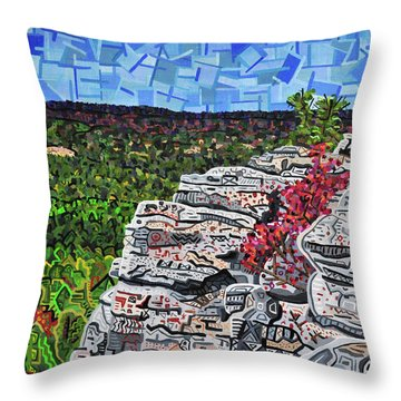 Hanging Rock State Park Throw Pillow by Micah Mullen