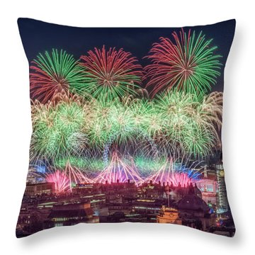 Happy 2018 Throw Pillow