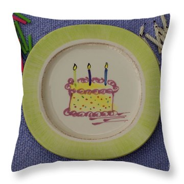 Throw Pillow featuring the photograph Happy Birthday by Sandy Molinaro