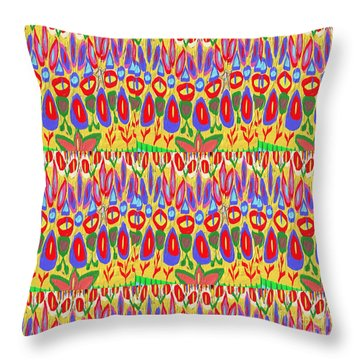 Happy Celebrations Abstract Acrylic Painting Fineart From Navinjoshi At Fineartamerica.com These Gra Throw Pillow by Navin Joshi