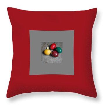 Happy Easter Throw Pillow by Marija Djedovic