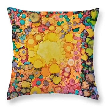 Happy Explosion Throw Pillow