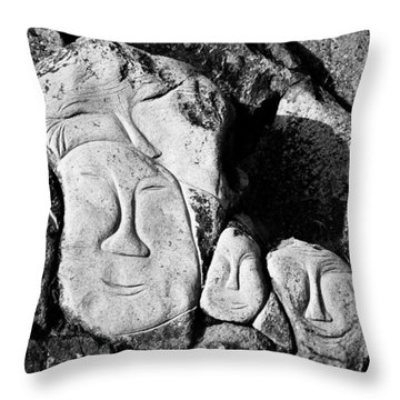 Happy Family ... Throw Pillow by Juergen Weiss