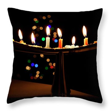 Throw Pillow featuring the photograph Happy Holidays by Susan Stone
