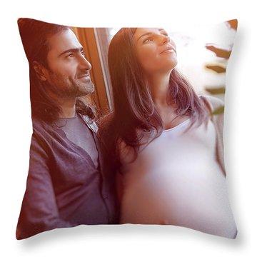 Happy Pregnancy Time Throw Pillow