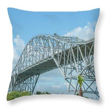 Harbor Bridge Throw Pillow