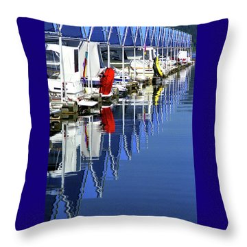 Throw Pillow featuring the photograph Harbor by Emanuel Tanjala