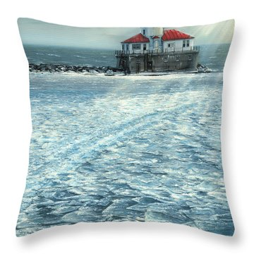 Harbor Light Throw Pillow by Doug Kreuger