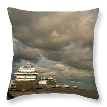 Harbor Storm Throw Pillow