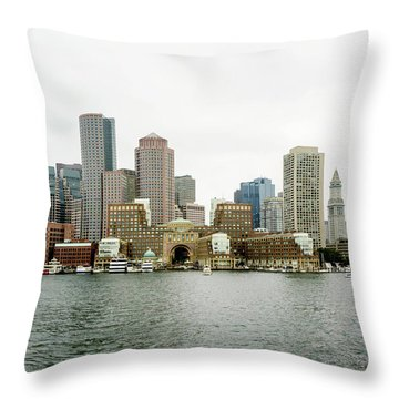 Throw Pillow featuring the photograph Harbor View by Greg Fortier