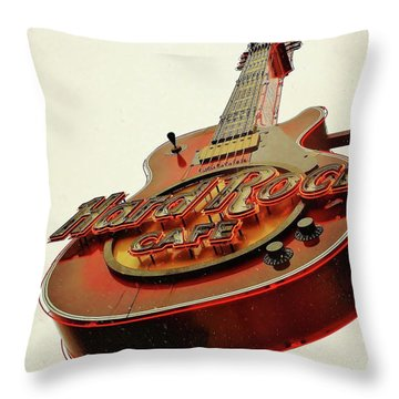 Throw Pillow featuring the photograph Hard Rock Cafe' by Al Fritz