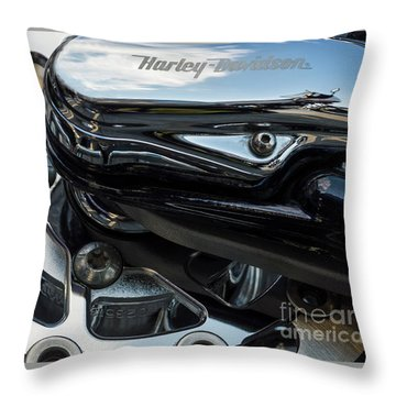 Throw Pillow featuring the photograph Harley Davidson 15 by Wendy Wilton