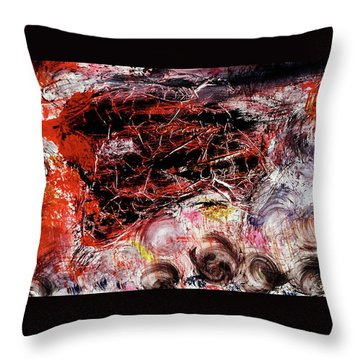 Throw Pillow featuring the painting Harmony by Michael Lucarelli