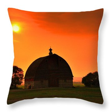 Harvest Sunset  Throw Pillow