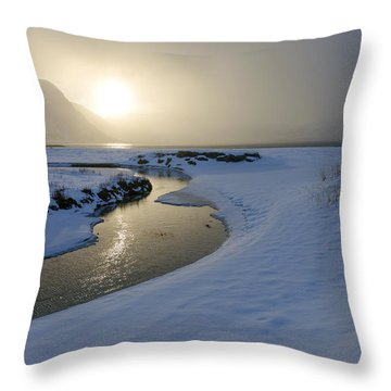 Haukland Beach, Lofoten Throw Pillow