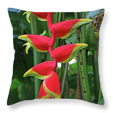 Hawaii Flora Throw Pillow