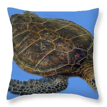 Hawaiian Sea Turtle Throw Pillow