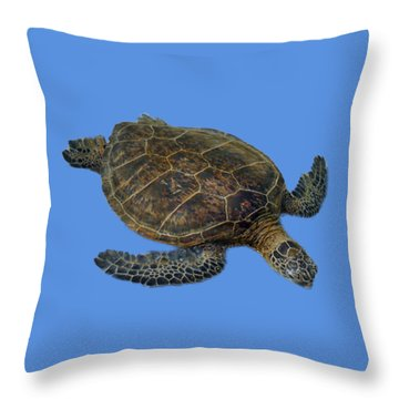 Hawaiian Sea Turtle Throw Pillow