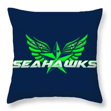 Hawks Wings Throw Pillow