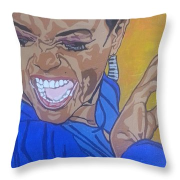 Hazel Scott Throw Pillow